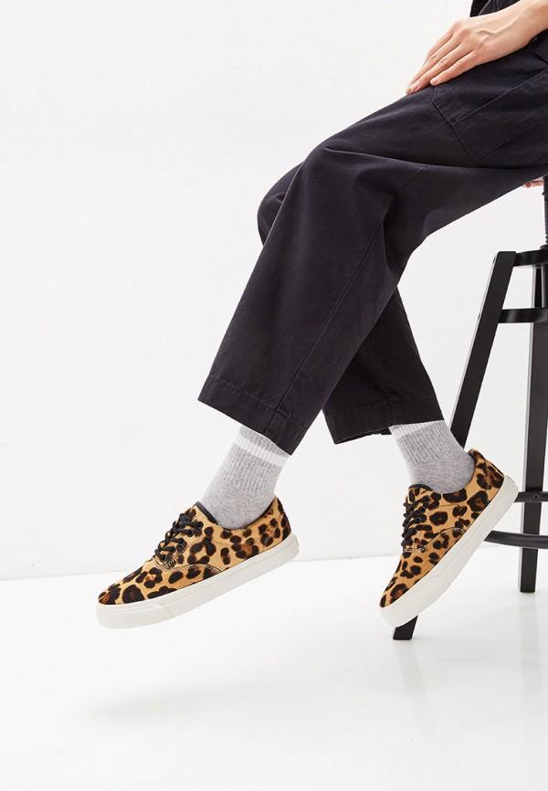 Фото 6 - женские кеды Polo Ralph Lauren коричневого цвета