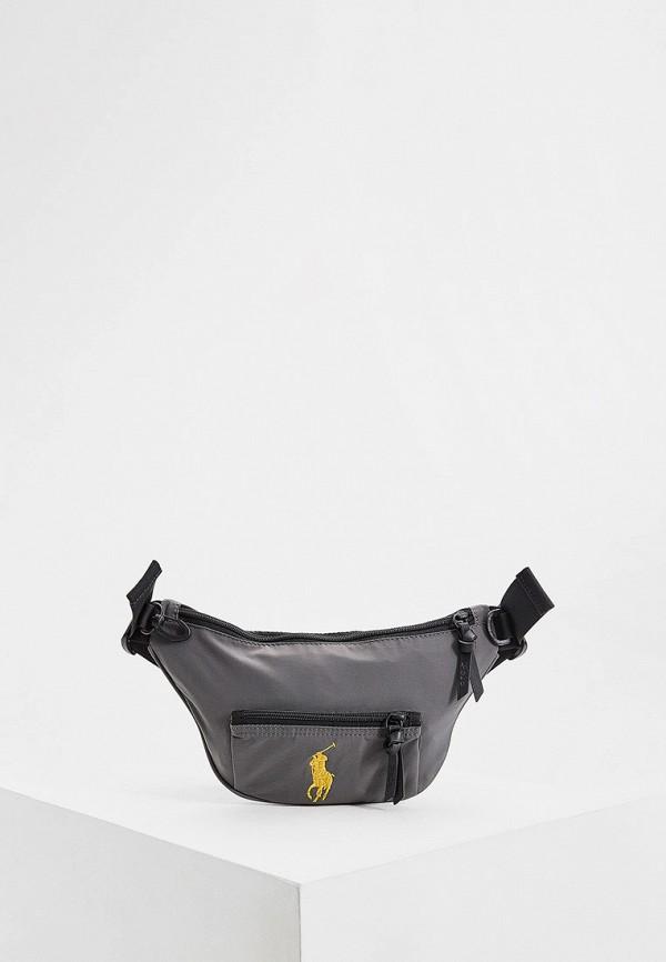 мужская сумка polo ralph lauren, серая