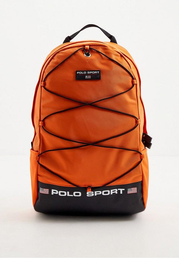 мужской рюкзак polo ralph lauren, оранжевый