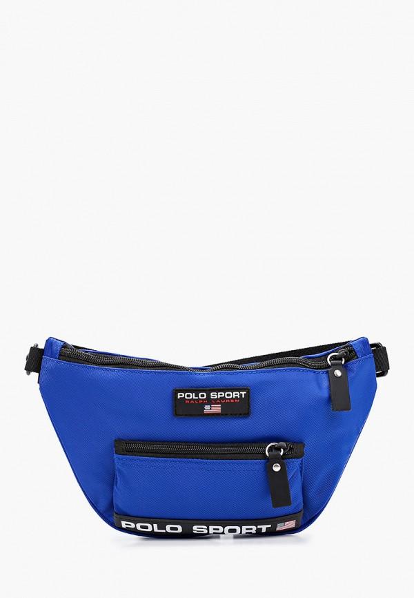 мужская поясные сумка polo ralph lauren, синяя