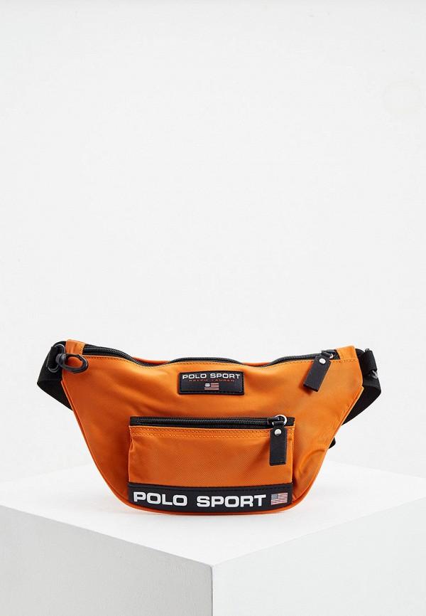 мужская поясные сумка polo ralph lauren, оранжевая