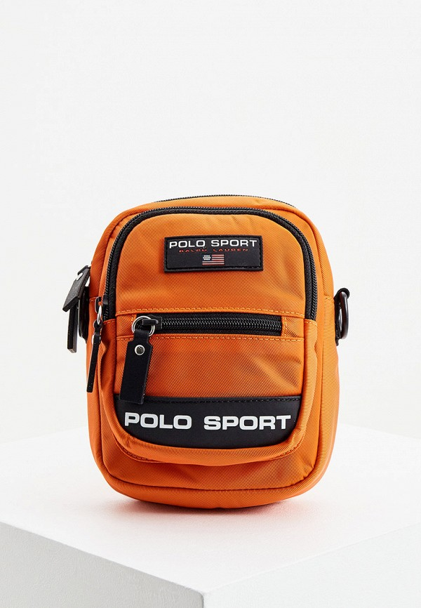мужская сумка через плечо polo ralph lauren, оранжевая