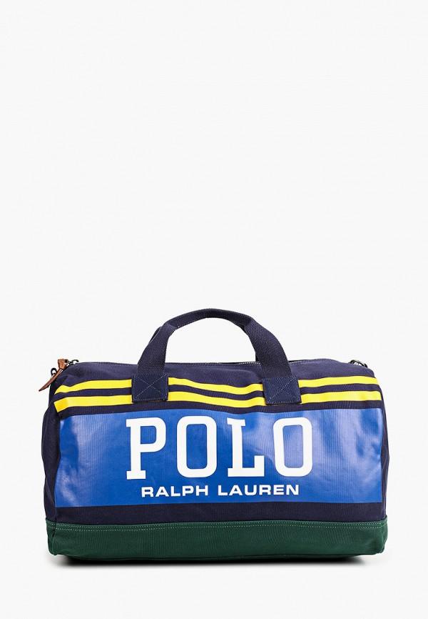 мужская дорожные сумка polo ralph lauren, синяя