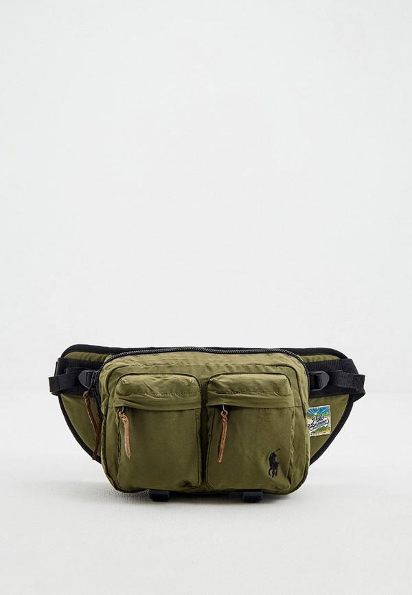 мужская поясные сумка polo ralph lauren, хаки