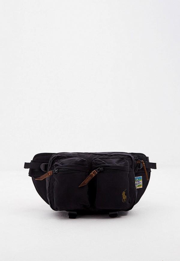 мужская сумка polo ralph lauren, черная