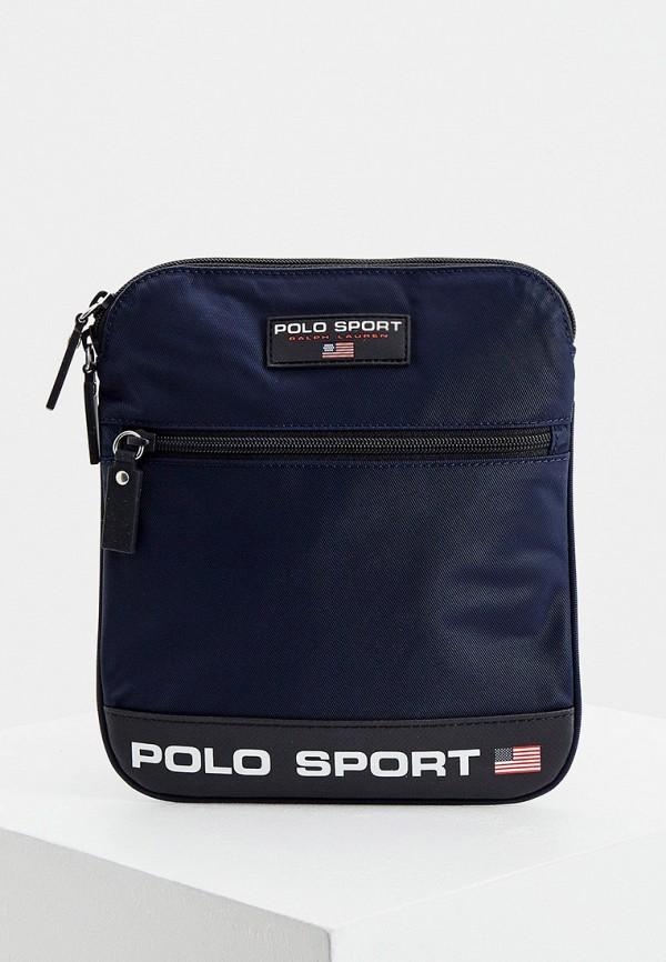 мужская сумка polo ralph lauren, синяя