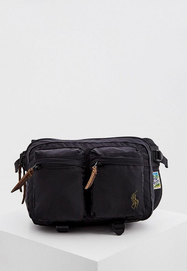 мужская поясные сумка polo ralph lauren, черная