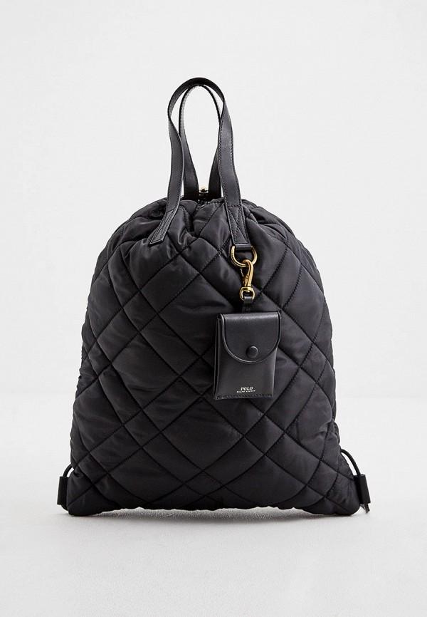 женский рюкзак polo ralph lauren, черный
