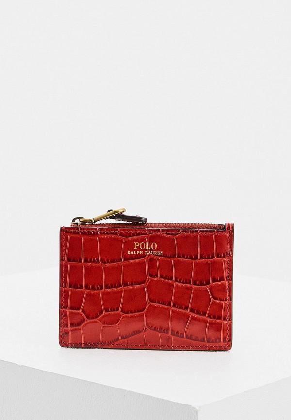 женский кошелёк polo ralph lauren, красный