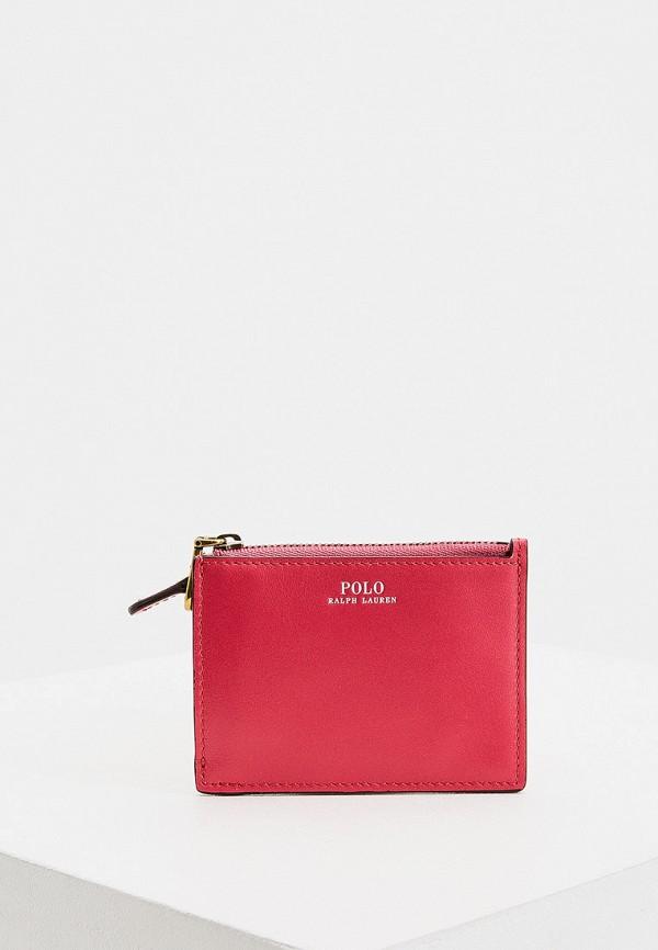 женский кошелёк polo ralph lauren, розовый