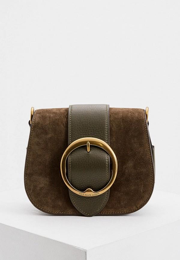 женская сумка через плечо polo ralph lauren, хаки