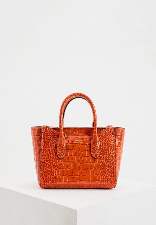женская сумка polo ralph lauren, оранжевая