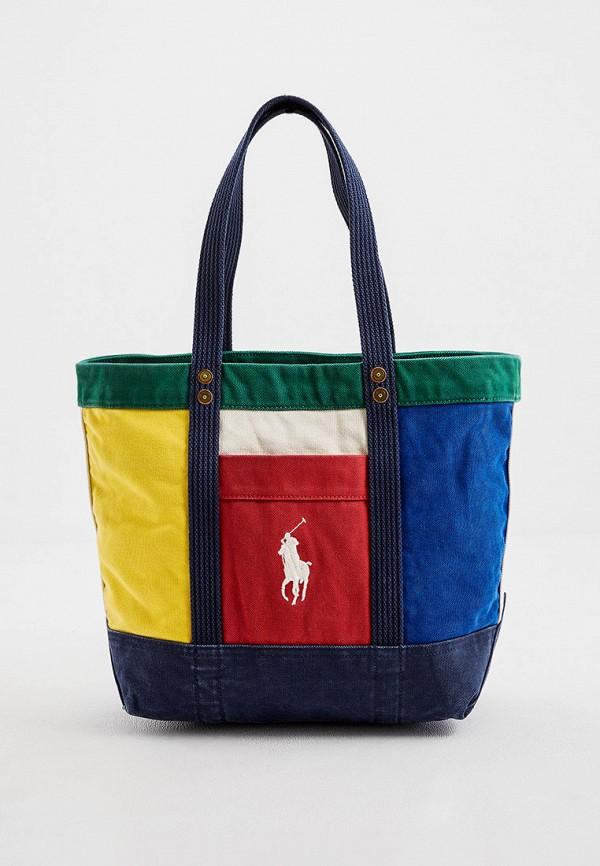 женская сумка polo ralph lauren, разноцветная
