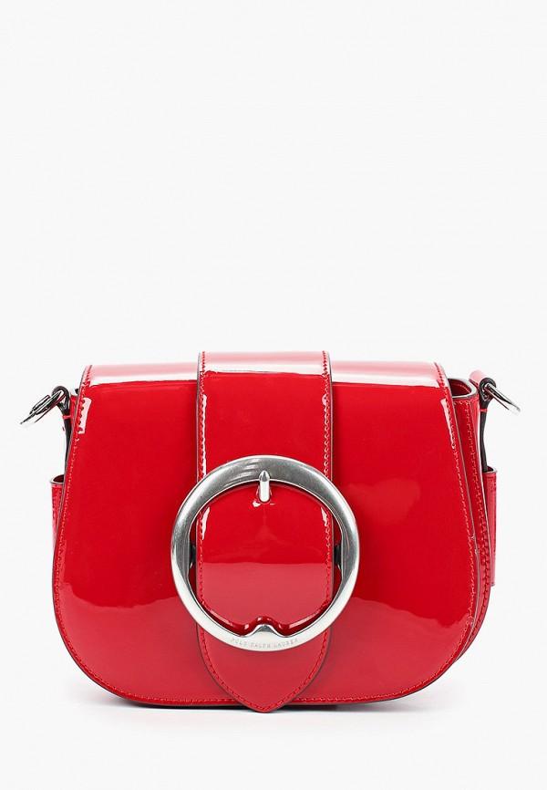 женская сумка polo ralph lauren, красная