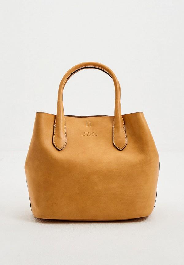 женская сумка polo ralph lauren, желтая