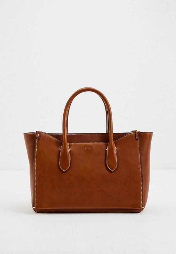 женская сумка polo ralph lauren, коричневая