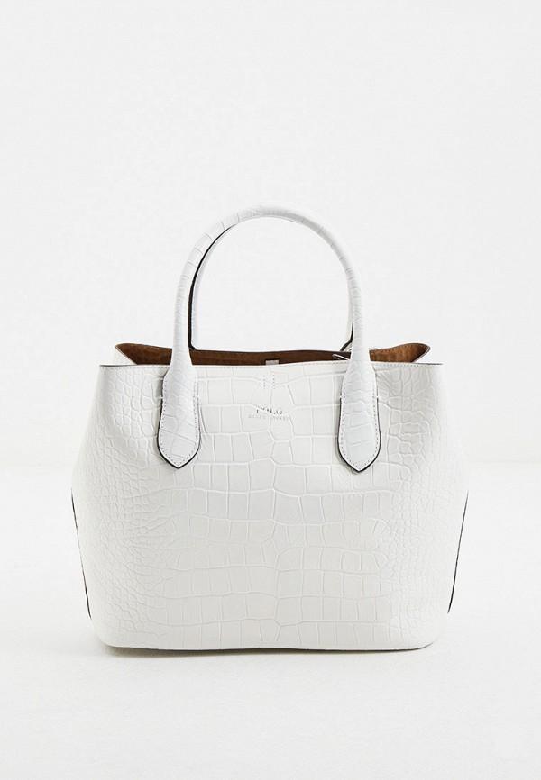 женская сумка-шоперы polo ralph lauren, белая