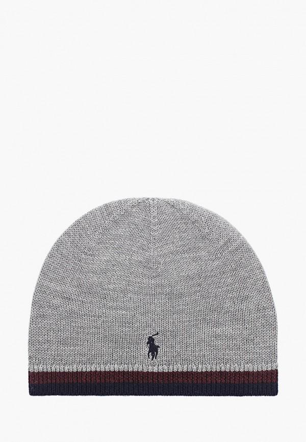 шапка polo ralph lauren для мальчика, серая