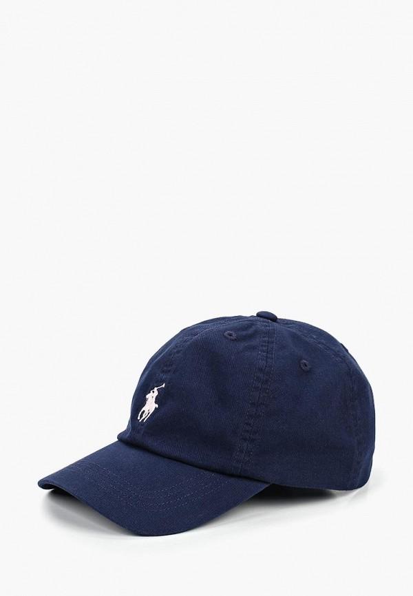 бейсболка polo ralph lauren для девочки, синяя
