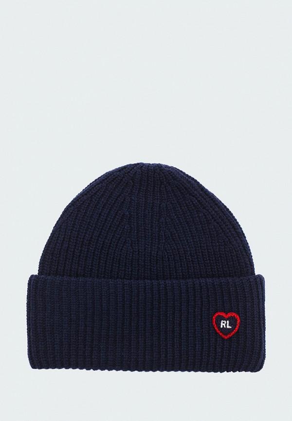 шапка polo ralph lauren для девочки, синяя