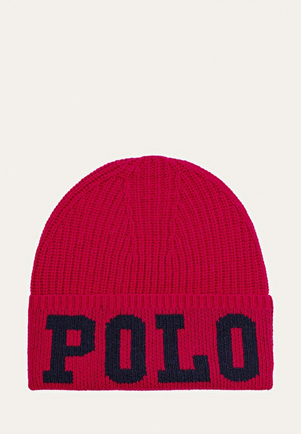 шапка polo ralph lauren для девочки, розовая