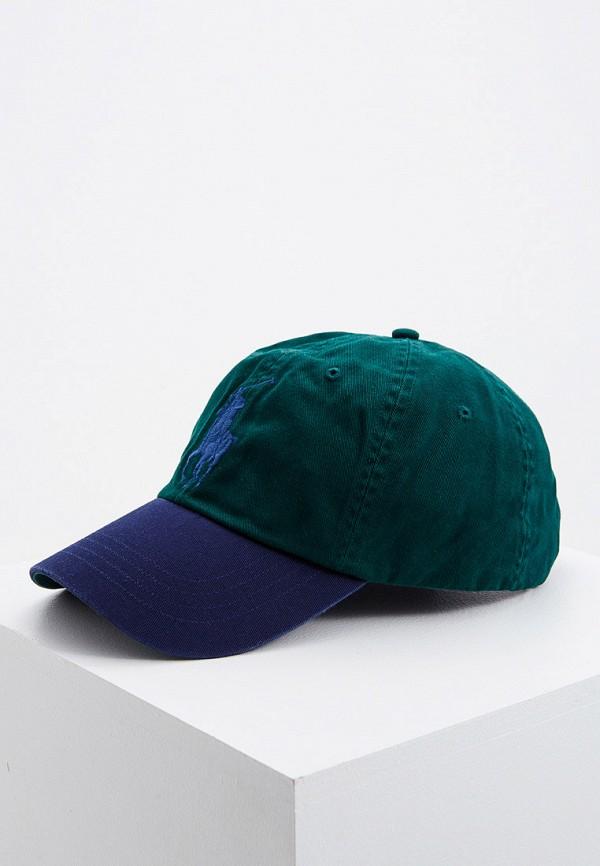 мужская бейсболка polo ralph lauren, зеленая