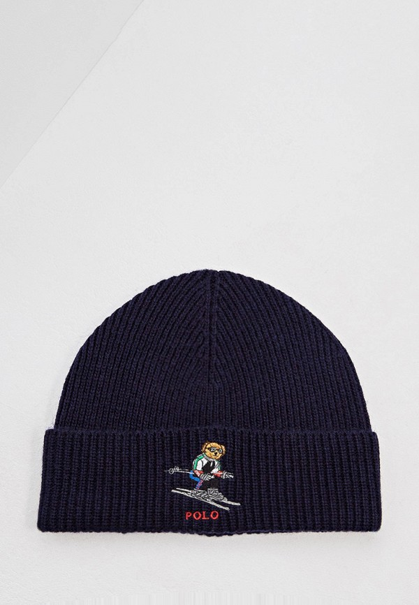 Фото - мужскую шапку Polo Ralph Lauren синего цвета