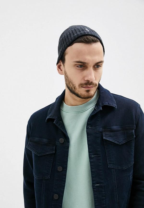 Фото 4 - мужскую шапку Polo Ralph Lauren серого цвета