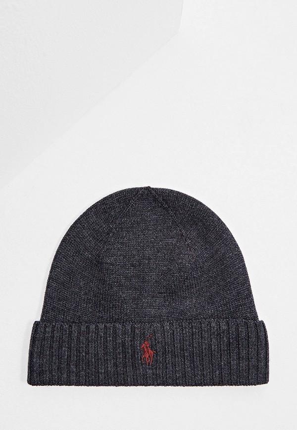 мужская шапка polo ralph lauren, серая