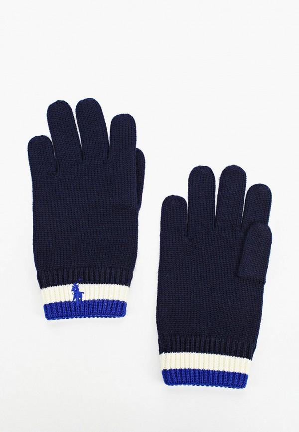 перчатки polo ralph lauren для мальчика, синие