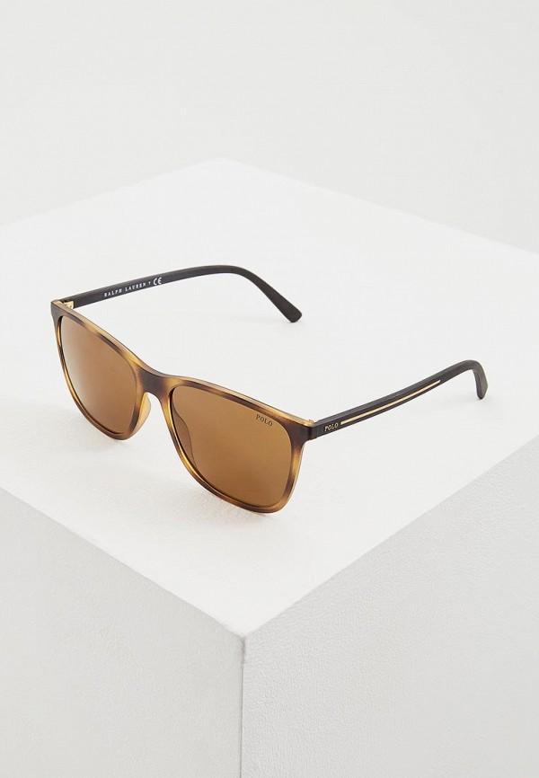 мужские солнцезащитные очки polo ralph lauren, коричневые