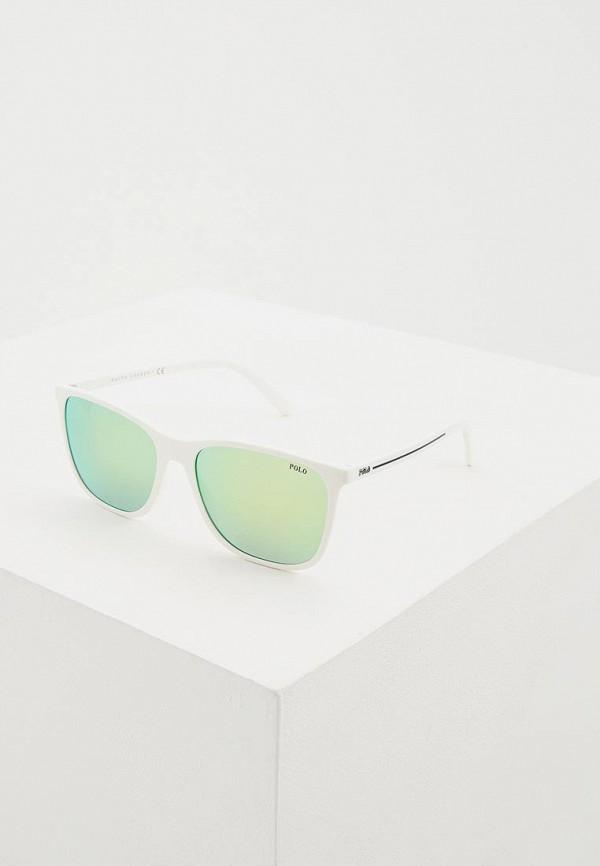 мужские квадратные солнцезащитные очки polo ralph lauren, белые
