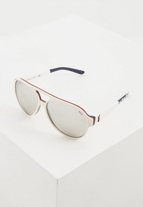 мужские авиаторы солнцезащитные очки polo ralph lauren, белые