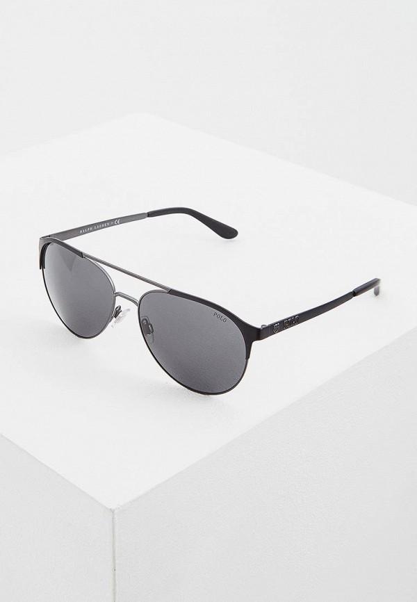 мужские солнцезащитные очки polo ralph lauren, серебряные