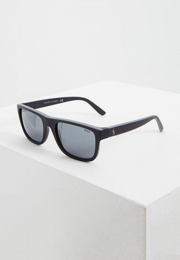 мужские квадратные солнцезащитные очки polo ralph lauren, серые