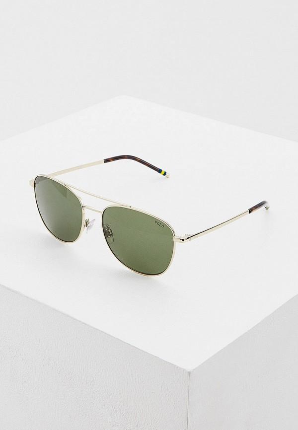 мужские авиаторы солнцезащитные очки polo ralph lauren, золотые