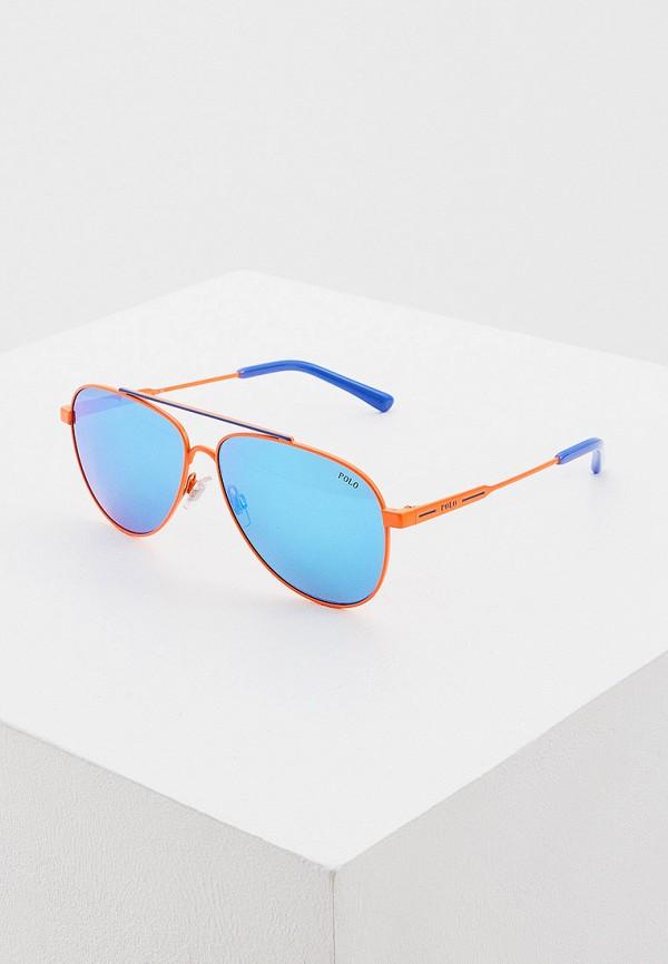 мужские авиаторы солнцезащитные очки polo ralph lauren, оранжевые