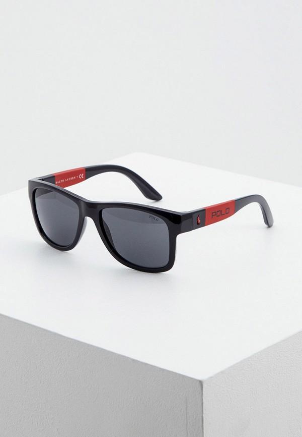 мужские квадратные солнцезащитные очки polo ralph lauren, черные