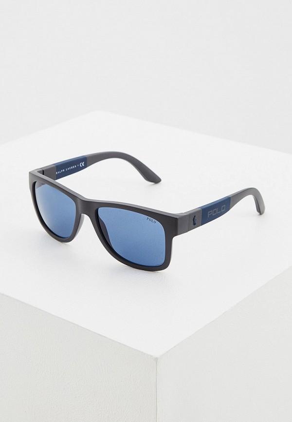 мужские квадратные солнцезащитные очки polo ralph lauren, синие