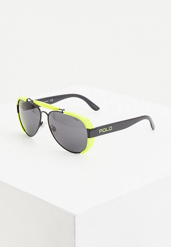 мужские авиаторы солнцезащитные очки polo ralph lauren, черные