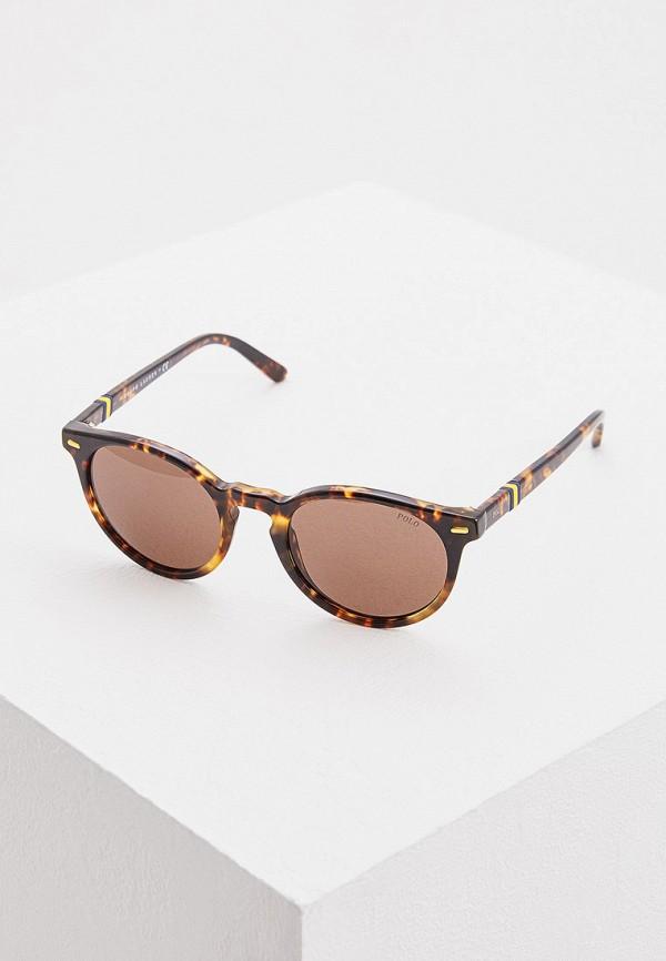 женские солнцезащитные очки polo ralph lauren, коричневые