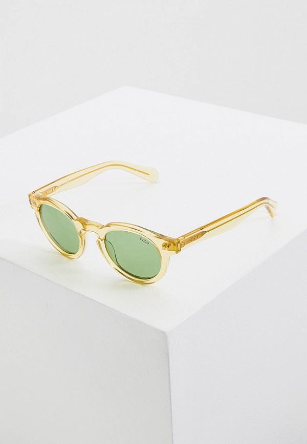 женские солнцезащитные очки polo ralph lauren, желтые