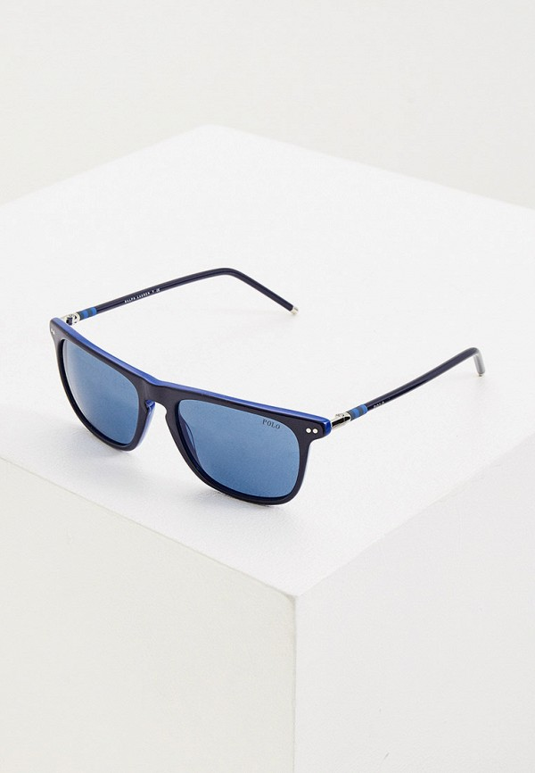 женские квадратные солнцезащитные очки polo ralph lauren, синие