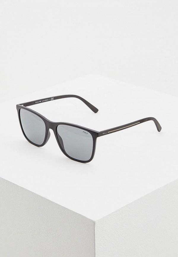 Купить Очки солнцезащитные Polo Ralph Lauren черного цвета