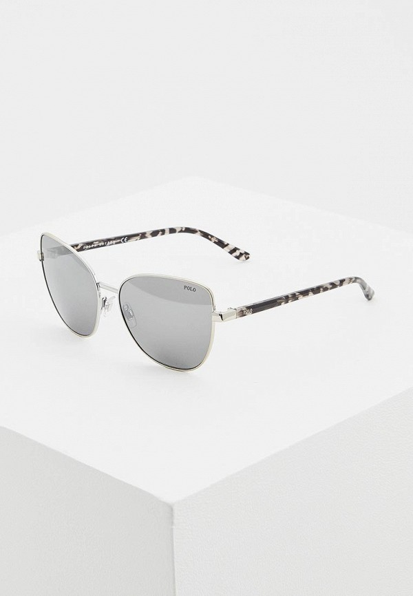 женские солнцезащитные очки polo ralph lauren, серебряные