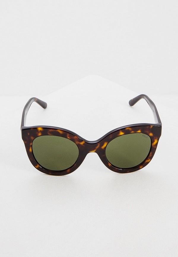 Фото 2 - Очки солнцезащитные Polo Ralph Lauren коричневого цвета