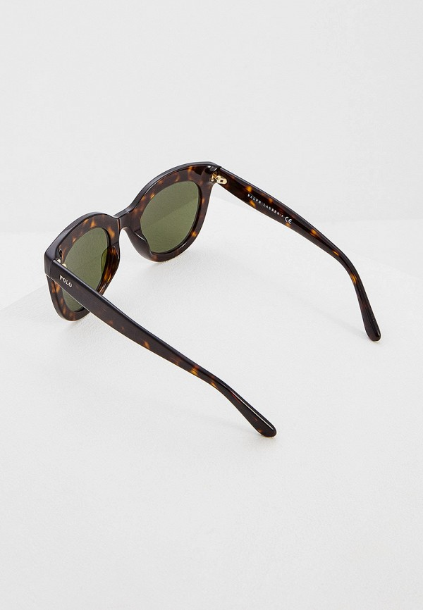 Фото 3 - Очки солнцезащитные Polo Ralph Lauren коричневого цвета