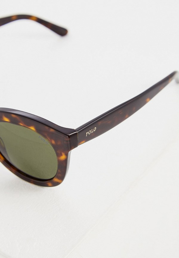 Фото 4 - Очки солнцезащитные Polo Ralph Lauren коричневого цвета