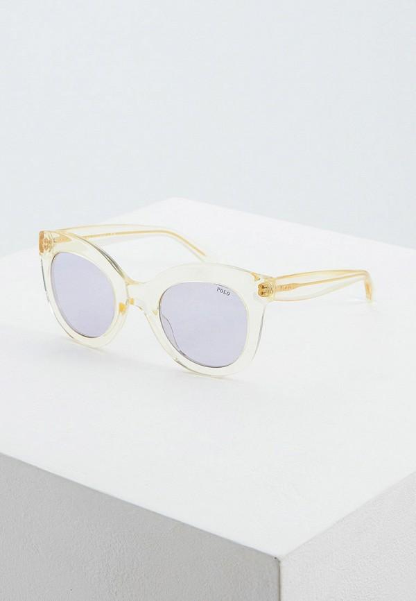 женские солнцезащитные очки кошачьи глаза polo ralph lauren, желтые