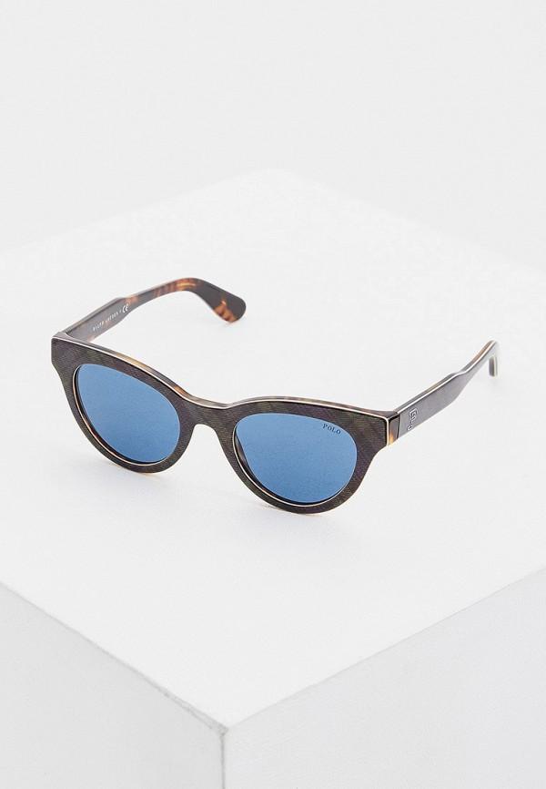 женские квадратные солнцезащитные очки polo ralph lauren, зеленые